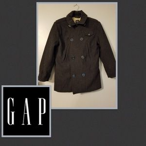 GAP KIDS Wool Charcoal Gray Pea Coat Size XXL